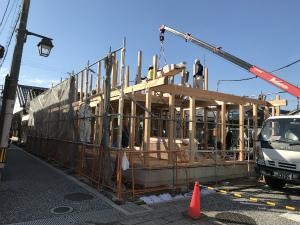 富田林寺内町でカフェ付住宅が上棟します!